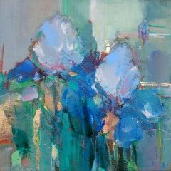 Magdalena Morey, Spring Blooms 3, Contemporary Still Life Painting, Original Art