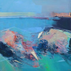 Rock Pools 2 - abstract landscape painting Contemporary Art 21st Century Art