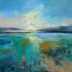 Sea mist II Abstract  Landscape painting Contemporary Art 21st century