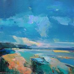 Shoreline 2 - original landscape mixed media painting