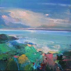 Shoreline 3 - abstract sea seascape landscape oil painting contemporary artwork