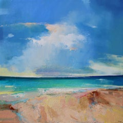Summer Light - original beach abstract landscape seascape painting contemporary