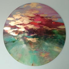 Surface Light - abstract circle landscape painting Contemporary Art 21st Century