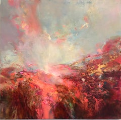 The Path V abstract landscape painting Contemporary Art 21st Century