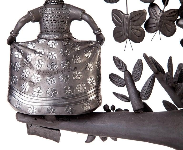 20'' Arbol 8 Regiones Oaxaca / Ceramics Black Clay Mexican Folk Art Tree of Life 7