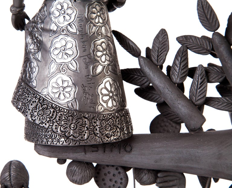 20'' Arbol 8 Regiones Oaxaca / Ceramics Black Clay Mexican Folk Art Tree of Life 8
