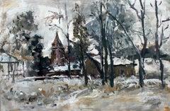 A view - XXI century, Oil on canvas, Figurative, Landscape