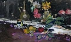 Still life - 21st century, Oil painting, Figurative, Grey tones