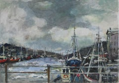 The Harbour- Oil Painting, Florwers, Figurative, Post-Impressionist