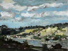 Vistula River - 21th century, Oil on canvas, Figurative, Landscape