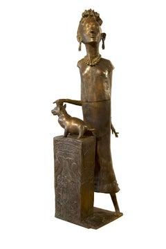 """Frida Kahlo"" Bronze Sculpture 62"" x 18.5"" x 20"" inch by Maged Mikhail"