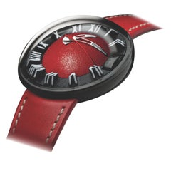 Magellan 11 Red Emotion Watch in Polished 316L Steel with Black PVD/CVD Coating