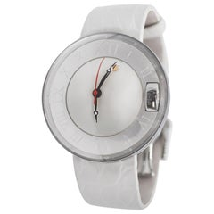 Magellan Pearl Time Watch in Polished 316L Steel, Engraved and Screwed Back Case