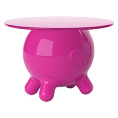 Magenta Extra Large Side Table, Decorative Auxiliary Table, Pogo, Joel Escalona