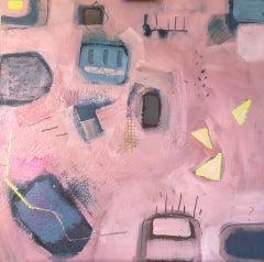 Maggie LaPorte Banks, Life in the Slow Lane, Original Mixed Media Painting