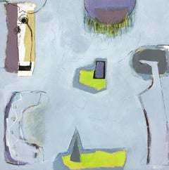 Changing Blues for Greys by Maggie LaPorte Banks, abstract art, contempory mix
