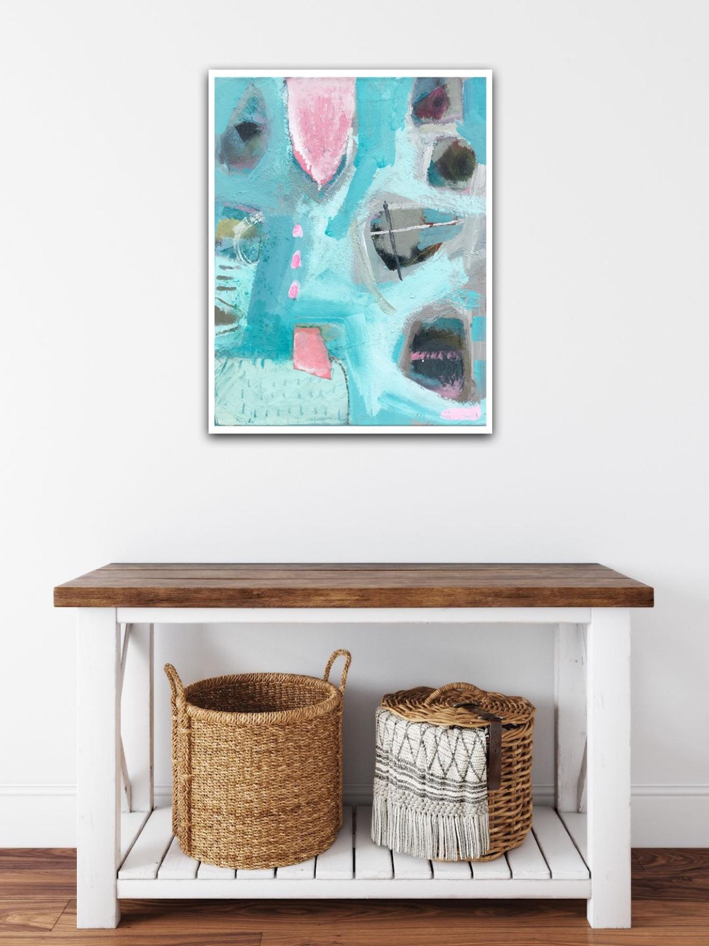 Keynance cove, Maggie LaPorte Banks, Affordable Abstract Painting, Original Art