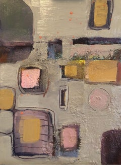 Maggie LaPort Banks, Taffeta and Amythest, Abstract Art, Mixed Media Art