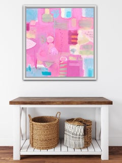Maggie LaPorte Banks, A Sense of Place 2, Original Abstract Painting, Bright Art