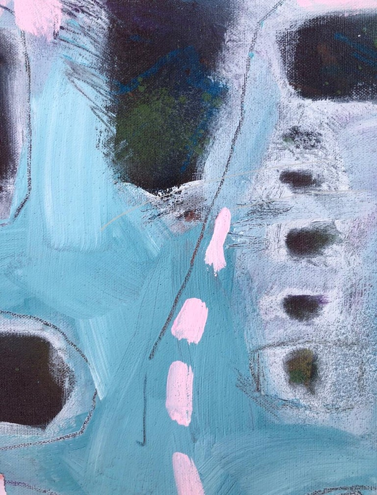 Maggie LaPorte Banks At the Edge of the Sea Original Abstract Painting Acrylic Paint and Mixed Medium on Linen Canvas Size: H 40cm x W 30cm x D 2cm Sold Unframed Please note that insitu images are purely an indication of how a piece may look.  At