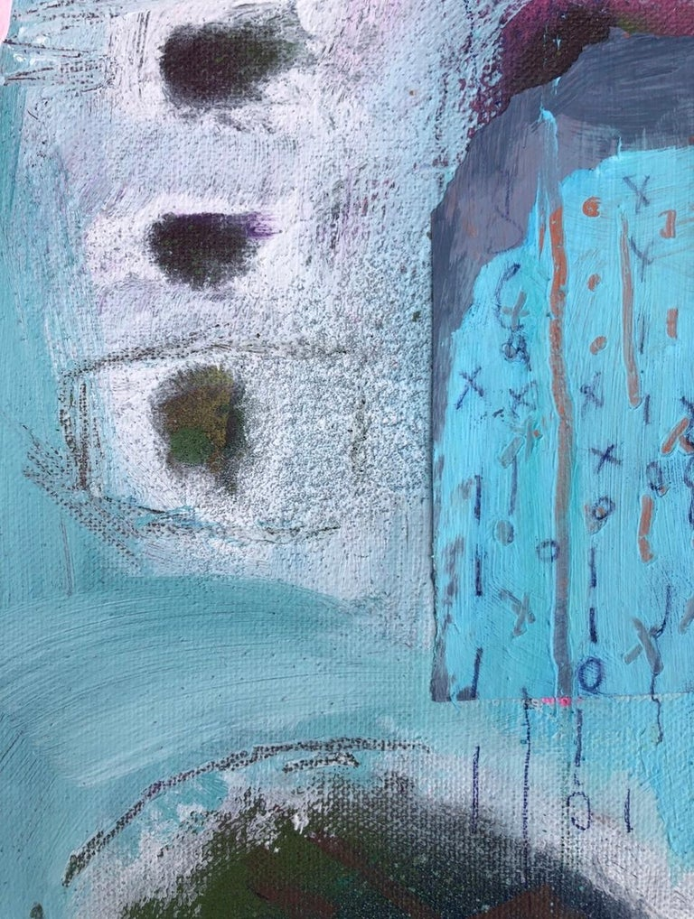 Maggie LaPorte Banks, At the Edge of the Sea, Original Bright Abstract Painting For Sale 1
