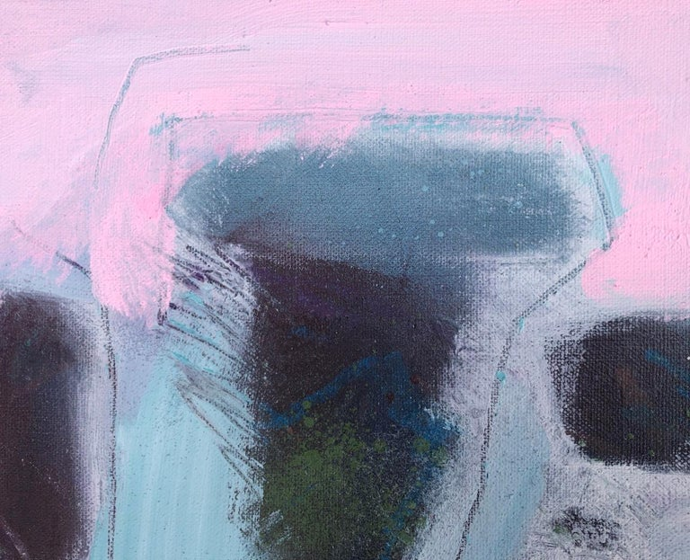 Maggie LaPorte Banks, At the Edge of the Sea, Original Bright Abstract Painting For Sale 3