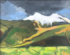 Maggie LaPorte Banks First snow on Corn Du and Pen y fan, Original Painting