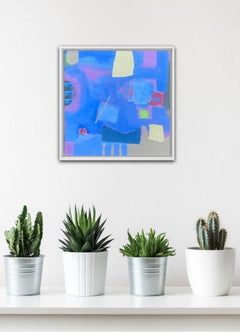 Maggie LaPorte Banks, Flooded with Cobalt Blue, Contemporary Abstract Painting