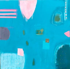 Maggie LaPorte Banks, Popping Bubble Gum Pink, Contemporary Abstract Artwork