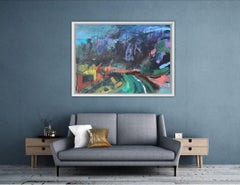 Maggie LaPorte Banks, Under Dartmoor Skies, Original Acrylic painting, Landscape