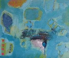 Midnight train, Maggie LaPorte Banks, contemporary abstract art, buy originalart