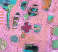 The Pink Cross BY MAGGIE LAPORTE-BANKS, Original Contemporary Abstract Painting