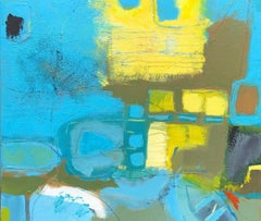 The yellow house, back beach. Maggie LaPorte Banks. Contemporary abstract art