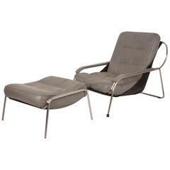 Maggiolina Chair and Ottoman by Zanotta Designed by Marco Zanuso, 1947