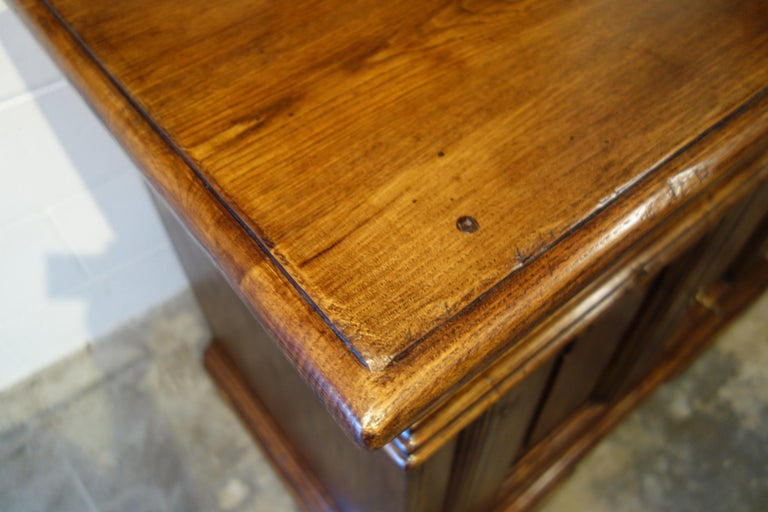 18th Century Style Italian Old Chestnut 2 Doors Credenza for Vanity Sink Basin For Sale 8
