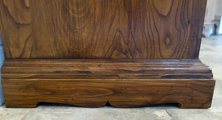 Contemporary 18th Century Style Italian Old Chestnut 2 Doors Credenza for Vanity Sink Basin For Sale