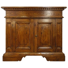 18th Century Style Italian Old Chestnut Credenza Vanity Commode, Custom Line