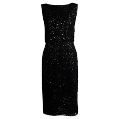 Maggy Rouff Haute Couture Open-Back Sequin-Embellished Tulle Cocktail Dress