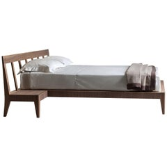 Magic Dream Contemporary Bed Made of Ashwood with 2 Drawers in the Headboard