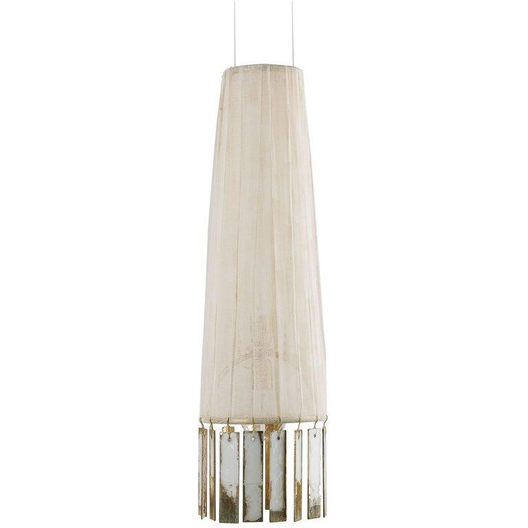 MINI Magic Hanging Lamp PAMELA hand painted Gauze Double Face Silvered Glass