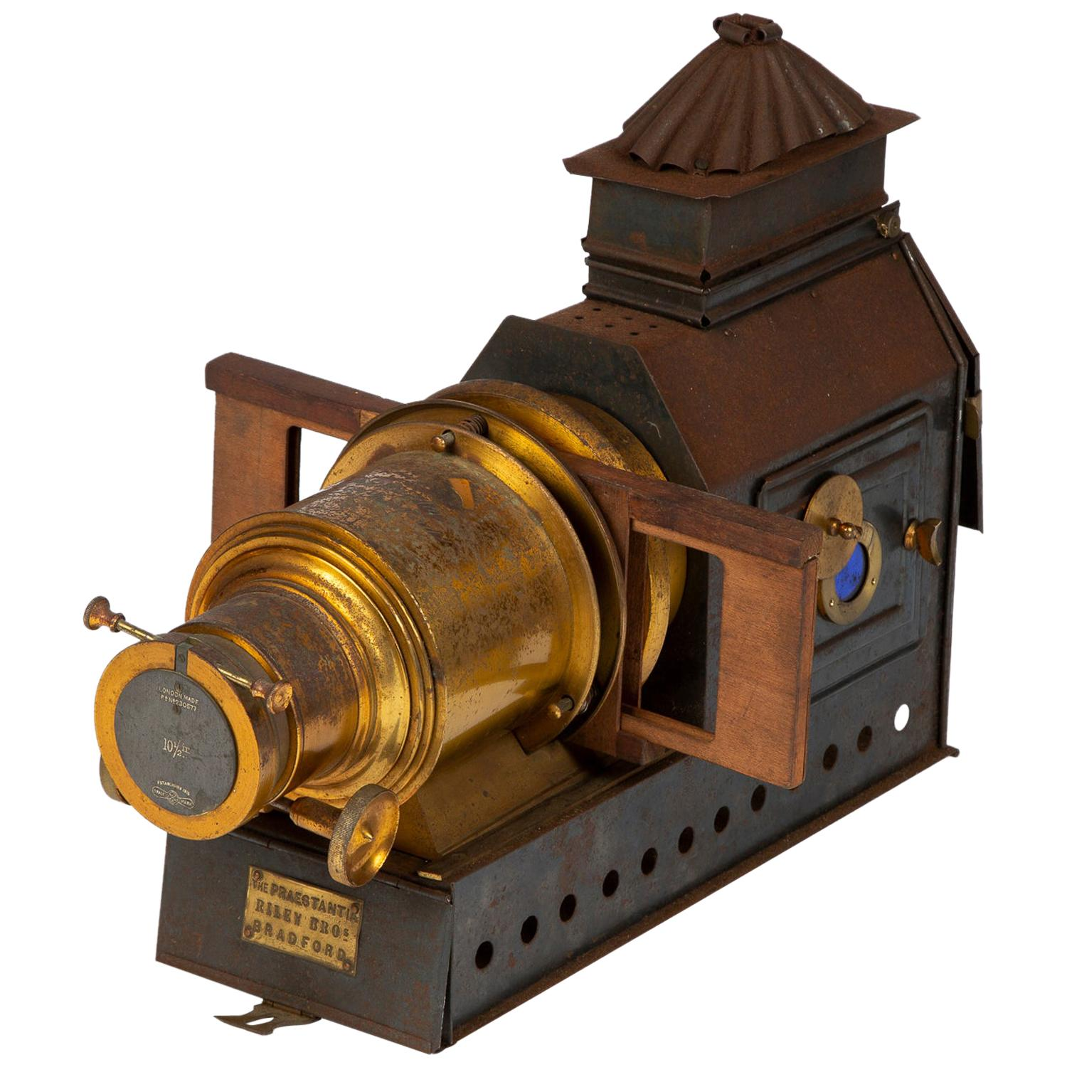 Magic Lantern Slide Projector by Riley Brothers, circa 1895