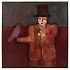 Magic Man Oil on Canvas by Mary Spain