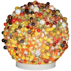 Magic Marbles #3, One of a Kind Vintage Lighting Unit, Signed by the Artist