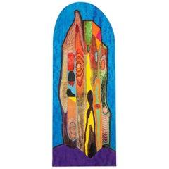 Magical City #2 Woodcut on African Movingui Wood Veneer by Zigmunds Priede, 2017