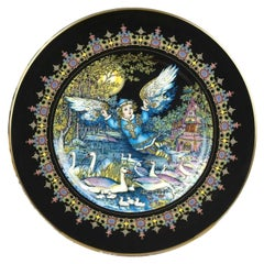 Magical Fairy Tales Old Russia Fauna Lutonja Plate by Gere Fauth
