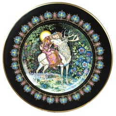 Magical Fairy Tales Old Russia Plate the Deer and Marusa by Gere Fauth