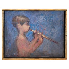 Magical Painting of Boy Playing a Flute