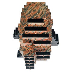 Magical Skyscraper Chest of Drawers Sculptural Modern, 1980s