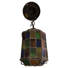 Magical Stained Glass Lantern Shaped Pendant Chandelier