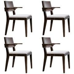 Magister Set of 4 Chairs with Armrests by Bosco Fair